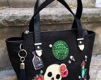 Leather Tote Bag Handbag SMALL or MEDIUM zippered tote handbag CHOOSE your leather - Laurel Dasso
