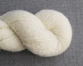 Recycled Shetland Wool Heavy Lace Weight Yarn, 510 Yards, Cream, Lot 020916