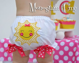 You are my Sunshine Bloomers - Birthday Underwear - Girls Smash Cake - Panties - Sunshine