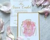 Jerica -Dior Perfume Bridal Shower Invitation