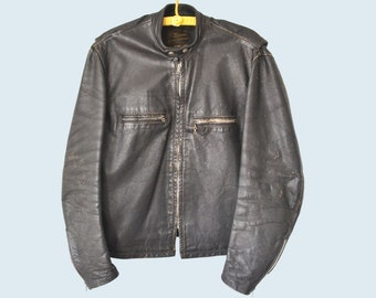 1960s Brooks Motorcycle Jacket size XL