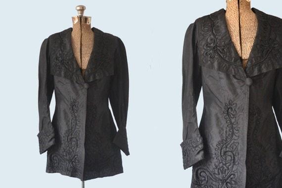 1910s Black Satin Jacket