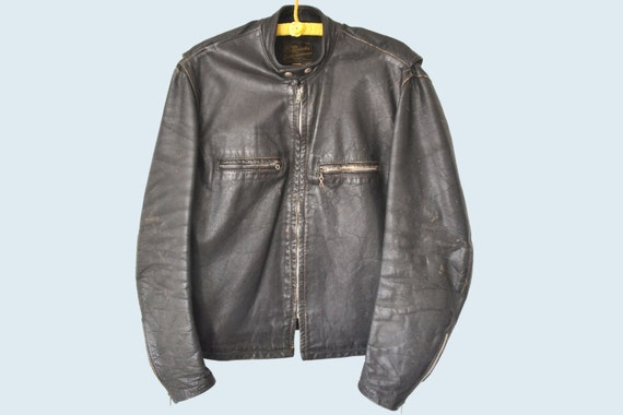 1960s Brooks Motorcycle Jacket size L