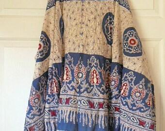 Vintage 70's cotton India wrap Skirt