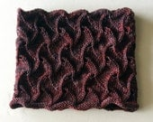 Hand Knitting Pattern PDF  Twisted Tiles Cowl  Worsted Weight Beginners Lace Project