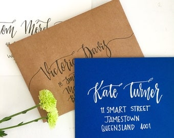 Calligraphy Wedding Envelopes Hand Lettered Custom Envelopes