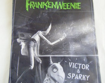 Frankenweenie Lunch Sandwich Tote Bag Business Supply Shopping Bags Carry All Tim Burton Subway Collectible Halloween Mad Scientist Sparky