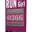 Race Bibs Hanger: run like a girl