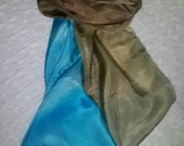 Silk scarf / hand painted / Beach / golden sand / Tropical / FREE shipping