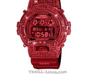 Casio G Shock Watch Fully Customized with Swarovksi Elements