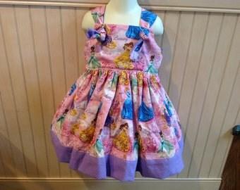 Disney Princess Cinderella Belle Boutique Knot Dress Size 2t 3t 4t 5 6