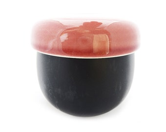 Zen Hand Poured Soy Wax Candle, Blush and Black