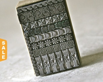 August is Letterpress Month - 20% off Vintage Letterpress Border Type for Printing Stamping and Decor