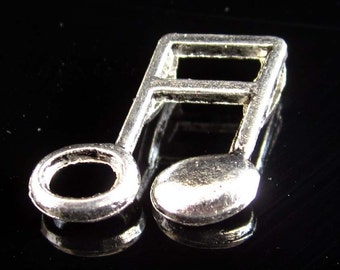 20Pieces Alloy Metal Music Note Beads Finding 15mm*13mm  ja311