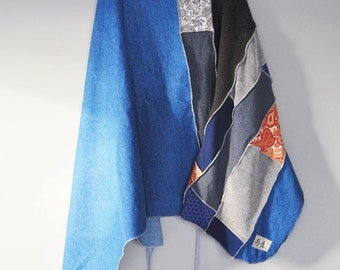 CUSTOM Boho Wrap Skirt/ Upcycled T-Shirt Wrap Skirt/ Custom Clothing/Boho Skirt/Petite to Plus Sizes/Colors