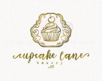 cupcake logo design premade logo gold logo design bakery logo bakers logo baking logo design sweet shop logo bespoke logo boutique logo