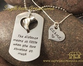 Military necklace set The distance means so little when you love someone so much