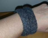 Felted Wool Bracelets, Jewelry,  - Charcoal Gray