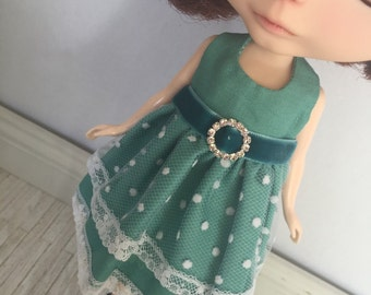 Blythe Bling Party Dress - Teal