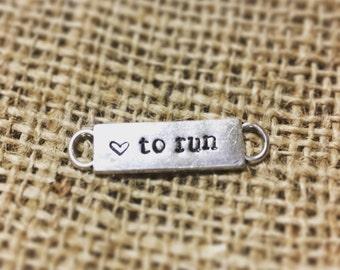 Love to Run Shoe Charm