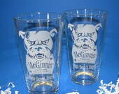 A Pair of Personalized Pint Glasses 16 Oz