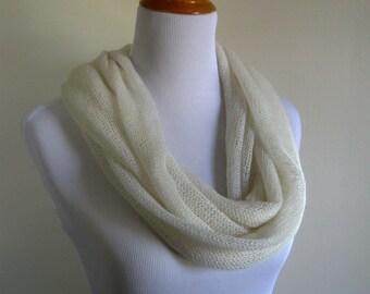 Ivory Knit Infinity Scarf