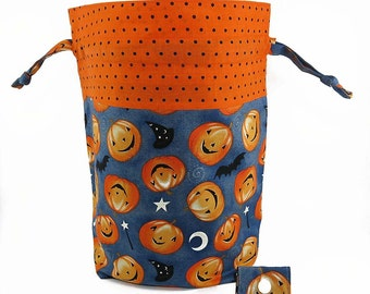 """New! """"The Great Pumpkin"""" Large Drawstring Project Bag"""