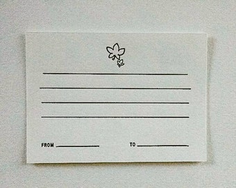 Maple Leaf Letterpress Note Card -set of 2