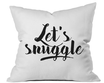 Valentines Day Gift Lets Snuggle Throw Pillow His and Hers throw Pillows Lets Cuddle Big Spoon Little Spoon Wedding Gift Love Pillows
