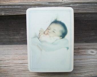 Don't Wake the Baby, Vintage Tin, Baby Tin