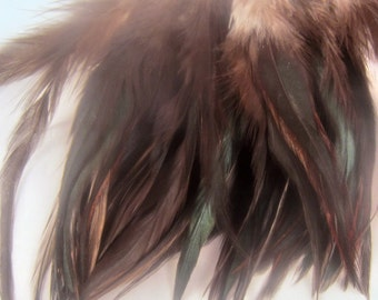 Feathers natural black 3 to 4 inches QTY 50 Natural feathers earrings crafts fly tying