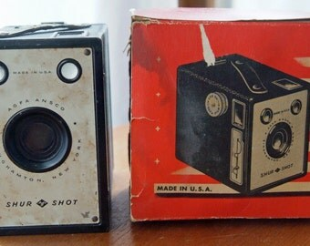Agfa Ansco Shur Shot 116 Roll Film Box Camera with Original Box