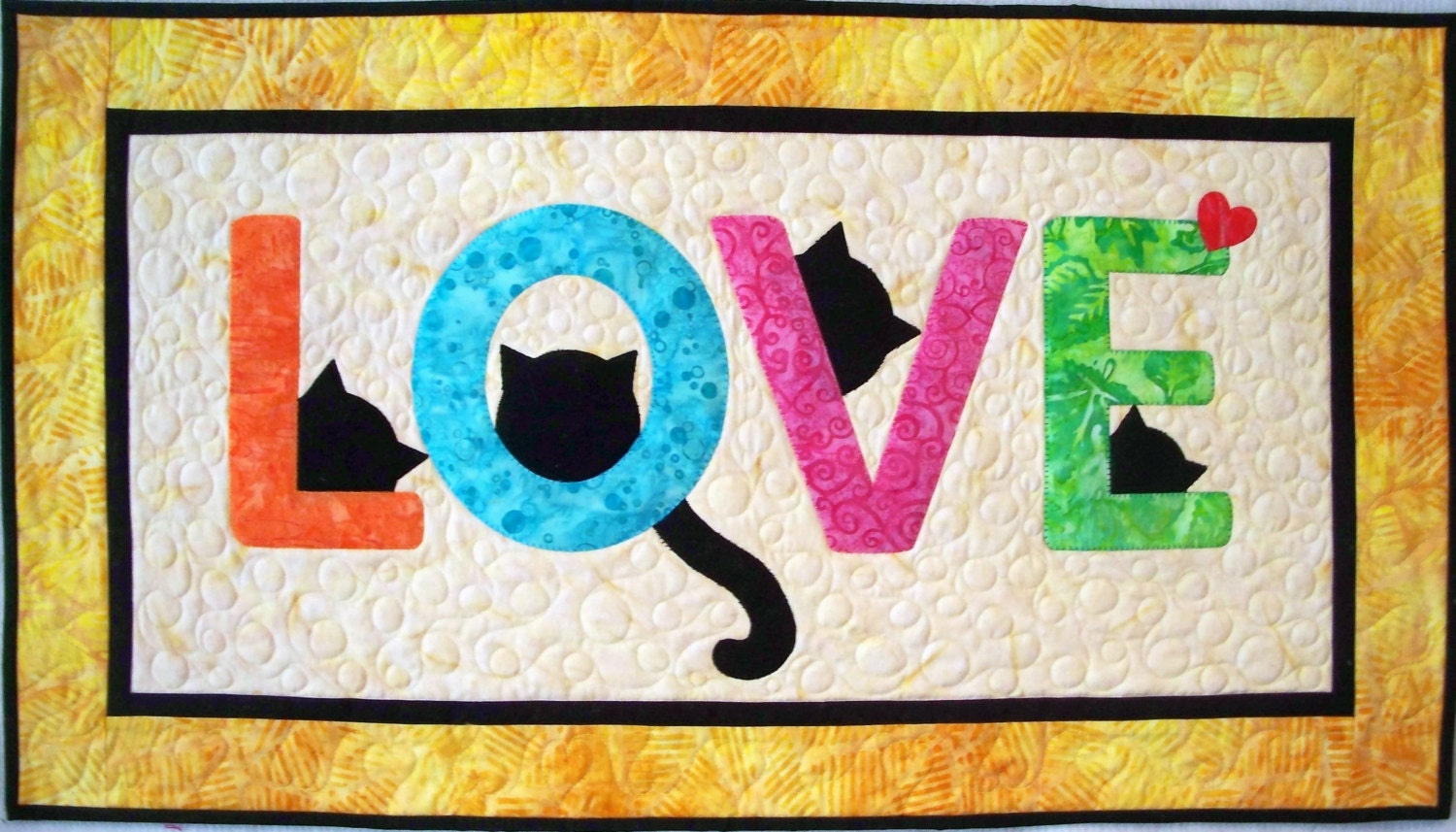 Cat Love Letters Quilt Pattern PDF