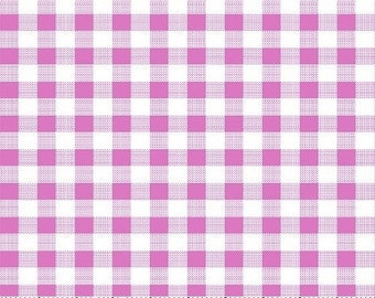 SALE - Special Size 1.25 Yards - Pink Gingham or Checker pattern - Cotton