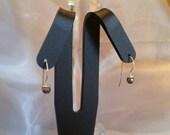 Black Pearl Sterling Silver Earrings
