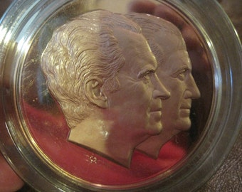 1973 Nixon and Agnew Bronze Medal Re Election Second Term or Coin