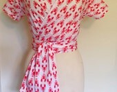 Vintage 1950s inspired lobsters wrap top XS to XXL rockabilly Viva