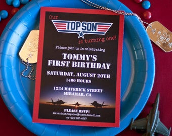 Print Your Own - Top Son 1st Birthday Invitation Only