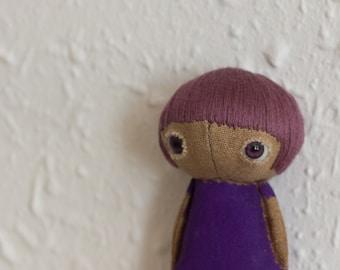 violet totootse doll 7 cm