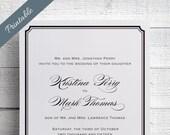 Simple Wedding Invitations Printable Black & White Wedding Invitations