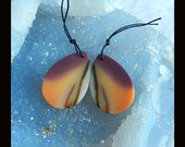 New,Mookite Jasper Gemstone Earring Bead,31x21x3mm,7.8g