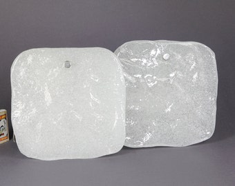 J.T. Kalmar Vienna Ice Glass Wall Lamp Lighting Sconce Franken Kinkeldy 60s Design