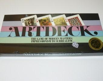 Artdeck Card Game of Modern Masters Impressionism Surrealism Art Vintage 1984 - Art Deck - New - Sealed