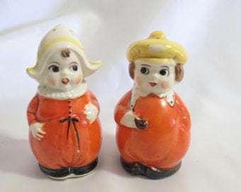 Vintage Dutch Boy and Girl Salt and Pepper Shakers