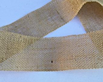 Burlap Ribbon, 4 inches wide, Wedding DIY Supplies, Crafting, Mason Jar Wrap, Wedding, Shower, Party Decoration
