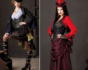Uncut Simplicity pattern 1819  Misses Steampunk sewing pattern. Size 14 - 22