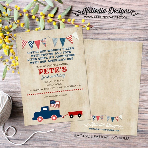 rustic baby boy shower invitation little boy 1st birthday kraft paper rustic chic bunting banner invite coed baby shower 238 Katiedid design