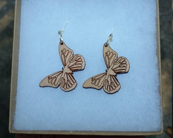 Laser Cut Butterfly Earrings