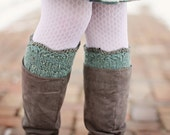 Gracie Boot Cuffs Knitting PATTERN, One Skein Knits, Leg Warmers, Winter Wear, Worsted, D.K., Aran, Lace, Lacy, Decorative Cuffs