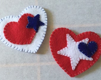 Red, White & Blue Felt Magnet Set